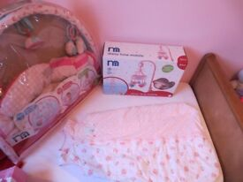 Mothercare Daisy Lane items, sleeping bag, mobile and play mat - vgc