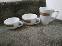 Porcelain Cups Mugs white ceramic