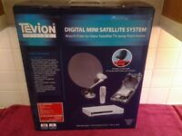 Tevion Vision Digital Mini Satellite System For Camping Watch TV Away From Work-Proceeds To Charity