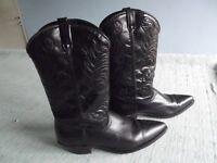 A pr of ladies cowboy boots