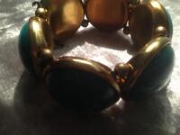 Chunky teal bracelet good condition