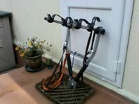 Bike carrier for2 Bikes fits on tow bar.
