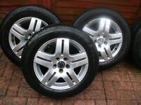 """4x15"""" Original Vw Golf MK4 alloys wheels"""