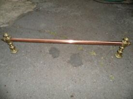 Brass Curtain Pole Towel Rail