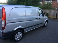 2008 Mercedes Vito 111 Cdi 2.2 Diesel,3 Seater,Compact TAX and MOT (as Transit transporter vivaro)