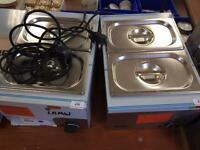 Brand new food heaters. Plug-in and go different temperatures water heated