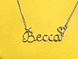 Jewellery made to order Name Necklace same day delivery.!