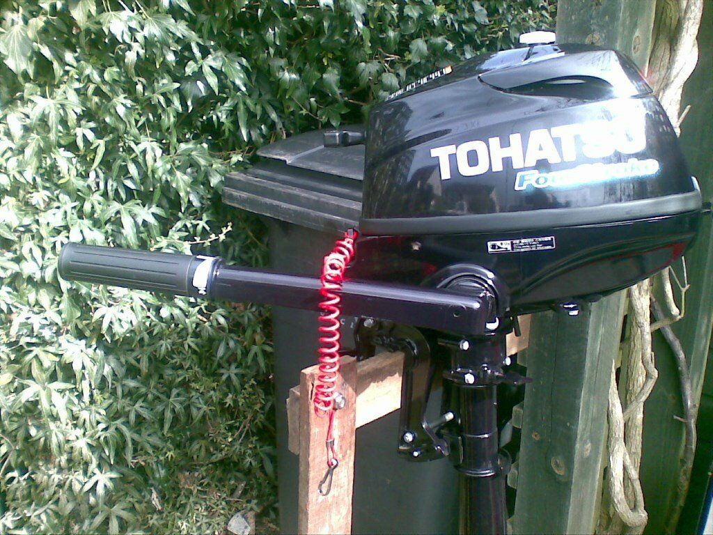 Tohatsu 3.5 HP 4 Stroke Outboard Only 4 Hours Run 9 months old from newin Cupar, FifeGumtree - Tohatsu 3.5 HP 4 Stroke Outboard Only 4 Hours Run. 9 months old from new. Original receipt. Virtually a new motor. Running in still to be completed. Pick up only. Can be seen running