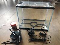 Fish tank, lighting and filter