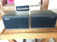 TECHNICS SB-CD50 BOOKSHELF SPEAKERS