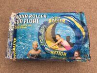 "AQUA ROLLER FUN FLOAT WATER WHEEL for Ages 8+ NEW in (damaged) box. 60"" Diameter x 36"" Width."