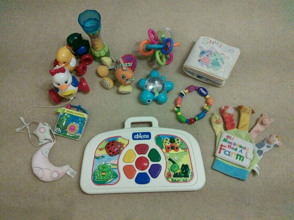 Baby toys, various types, all clean and working.