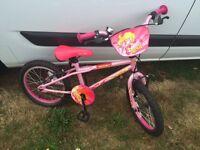 """Girls bike 16"""" wheels"""
