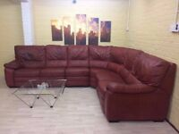 Very Big Leather Corner Sofa