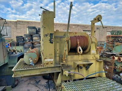 45000 Lb. Hydraulic Winch Assembly With Mount And Pump Military Surplus