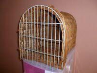 Wickerwork cat basket