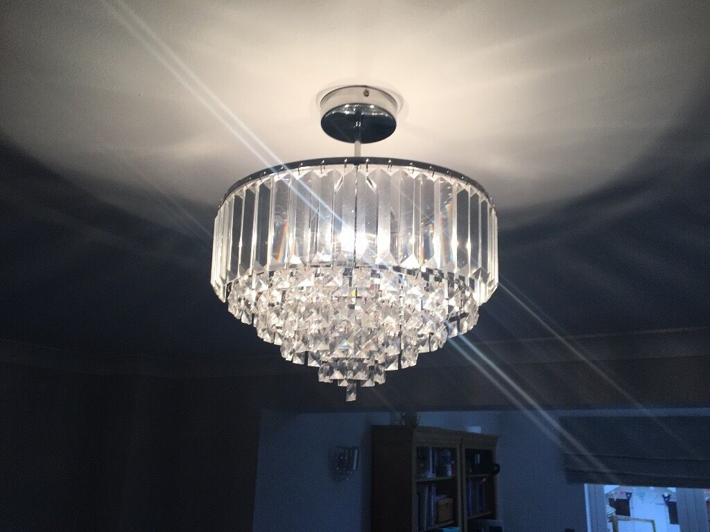 Wall Sconces With Matching Chandelier : Matching Laura Ashley glass ceiling lights / chandelier and wall lights in Norwich, Norfolk ...
