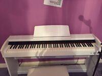 White digital piano