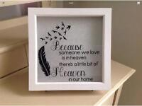 White Rustic Memory Frame - Because someone we love is in heaven