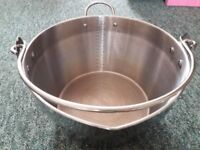Stainless Steel Maslin Jam Pan And Handle 9 litre