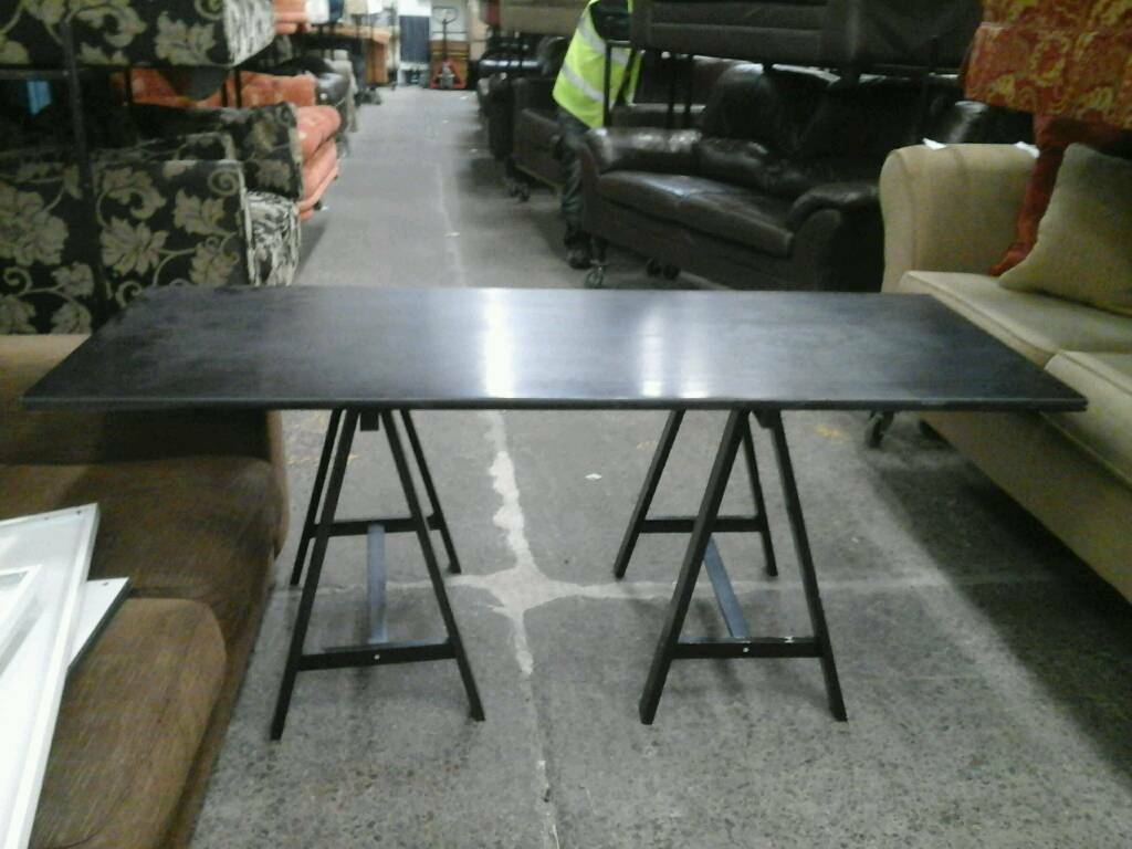 Wide black tressle tablein Newcastle, Tyne and WearGumtree - As with all preowned furniture this item may show signs of wear and tear but has no structural damageMany more items available atCommunity Furniture Newcastle East6 Heaton TerraceBykerNE6 1JRWe can deliver within the local area and we can accept card...