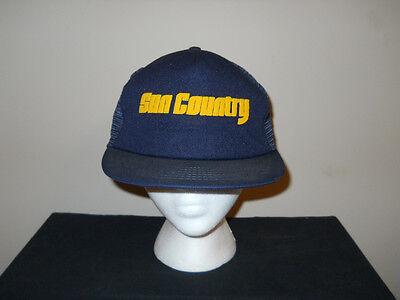Vtg 1990S Sun Country Airlines Mechanics Mesh Snapback Hat Sku9