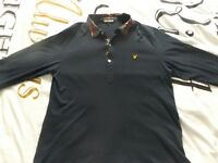Large Lyle & Scott Blue Long Sleeved Top