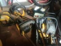 petrol chainsaws, mcculloch, ryobi