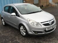 2007 Vauxhall CORSA 1.2 Design, mot-December 2018 ,only 25,000 miles from new,fiesta,clio,punto,polo