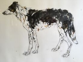Large Collie Painting
