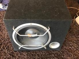 12 inch jbl with juice 2 channel 1200 watt amp good condition