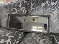 Antique silver mirror 60cm x 24cm £40