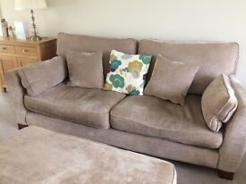 Sofa, with armchair and footstool