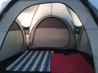 Vango Diablo 900xp. 9 man tent. Huge living space. 3 separate bedrooms.cones with attached porch..