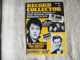 Record Collector magazines.Early A5 size