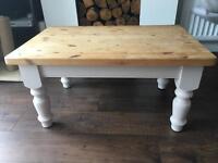 Chunky Solid Wood Coffee Table