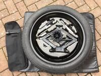 Vauxhall Insignia space saver spare wheel and accessories.