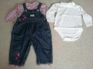 OshKosh overalls and matching shirts Kitchener / Waterloo Kitchener Area image 1