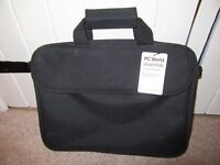 "PC WORLD LAPTOP BAG 15"" NWT BLACK"