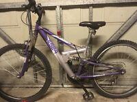 Purple apollo kids/teens bike