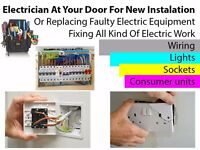 Electrician Required For Fixing All Kind Of Electric Work