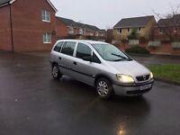 04 Vauxhall Zafira Estate 1.6I Life 5Dr 7 seats aug17 mot 96k miles 2 keys FSH