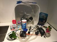 Fish tank and equipment for sale