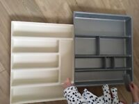 Kitchen drawer cutlery trays