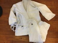 SPIRIT ADULT 160 COTTON MARTIAL ARTS KARATE JUDO WHITE WITH BELT