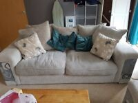 3 seater sofa and cuddle chair Only a year old