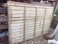 NEW Wood fencing 6ft x 4ft, 3 panels.