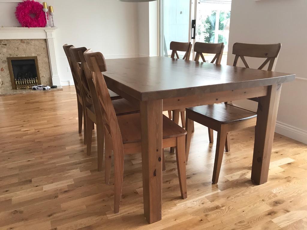 Big solid wood table