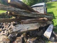 Old oak beams
