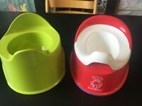 2 potties - Red BabyBjorn and Green Ikea, excellent condition. Finsbury Park